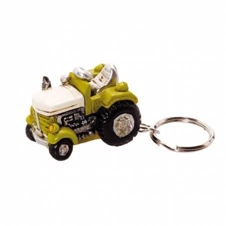 Tracteur porte-clefs vert 4x2,5h3cm