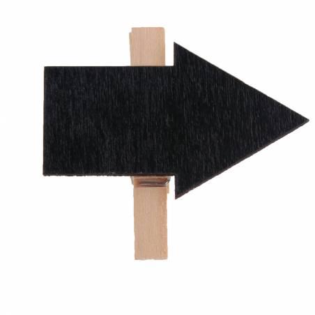 Clip fleche ardoise 5,5h4,5cm