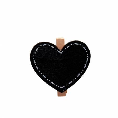 Clip coeur ardoise 5h4,5cm