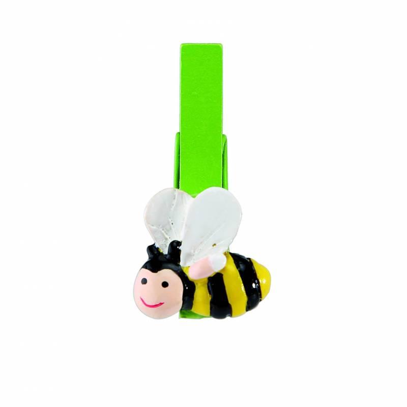 8 clips abeille 2h4,5cm
