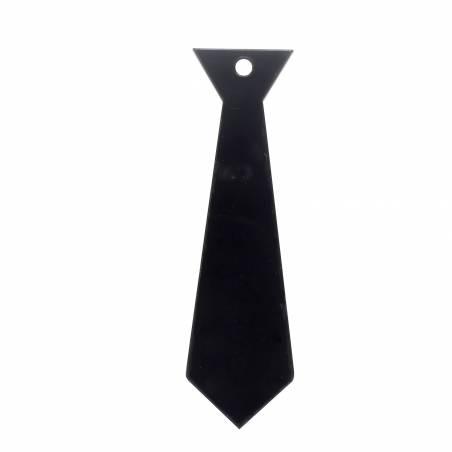 8 cravates nominette noir 7,4h2,1cm