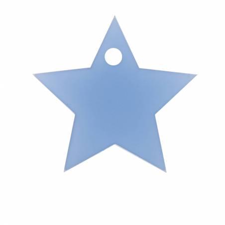 8 etoiles nominette bleu 4,4x4,2cm