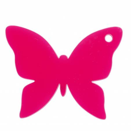 8 papillons nominette fuchsia 4,8x4,6cm