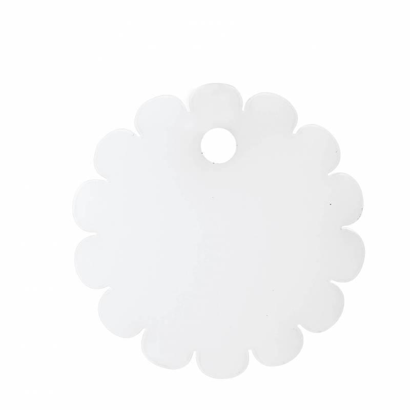 8 rosaces nominette blanche d4cm
