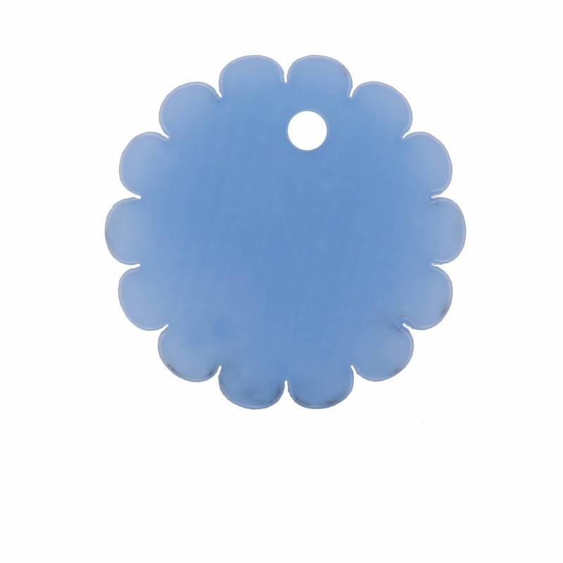 8 rosaces nominette bleu d4cm
