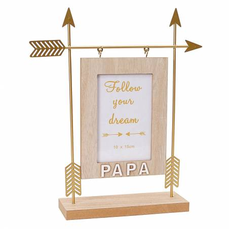 Cadre fleche or papa 27x7h32cm