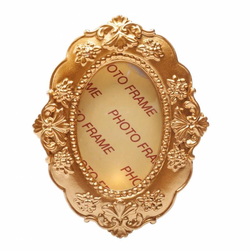 Cadre vintage ovale or 6,5h8,5cm