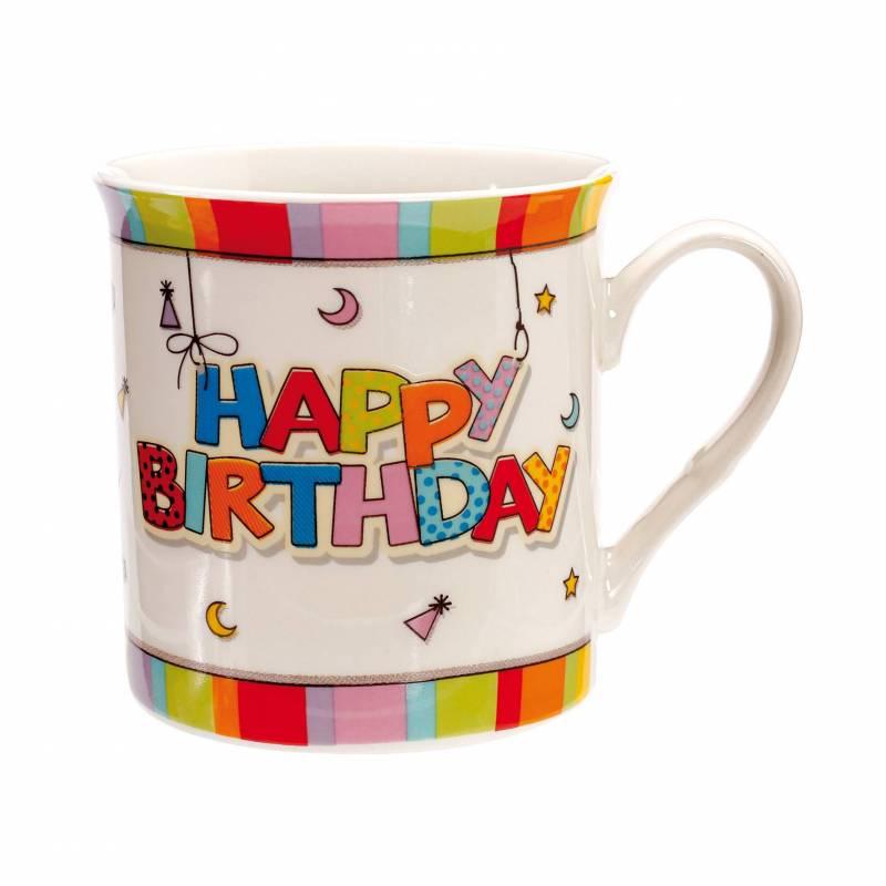 "Mug ""happy birthday"" d8,5h8,5cm"