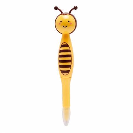 Stylo abeille jaune/noir h14cm prix net