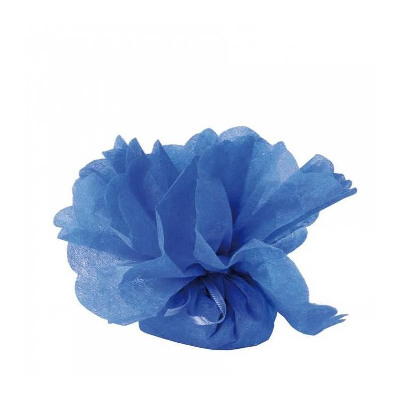 Tulle intisse bleu roi d23cm