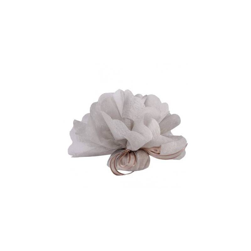 Tulle intisse taupe d23cm