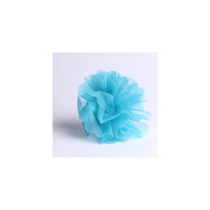 Tulle intisse turquoise d23cm