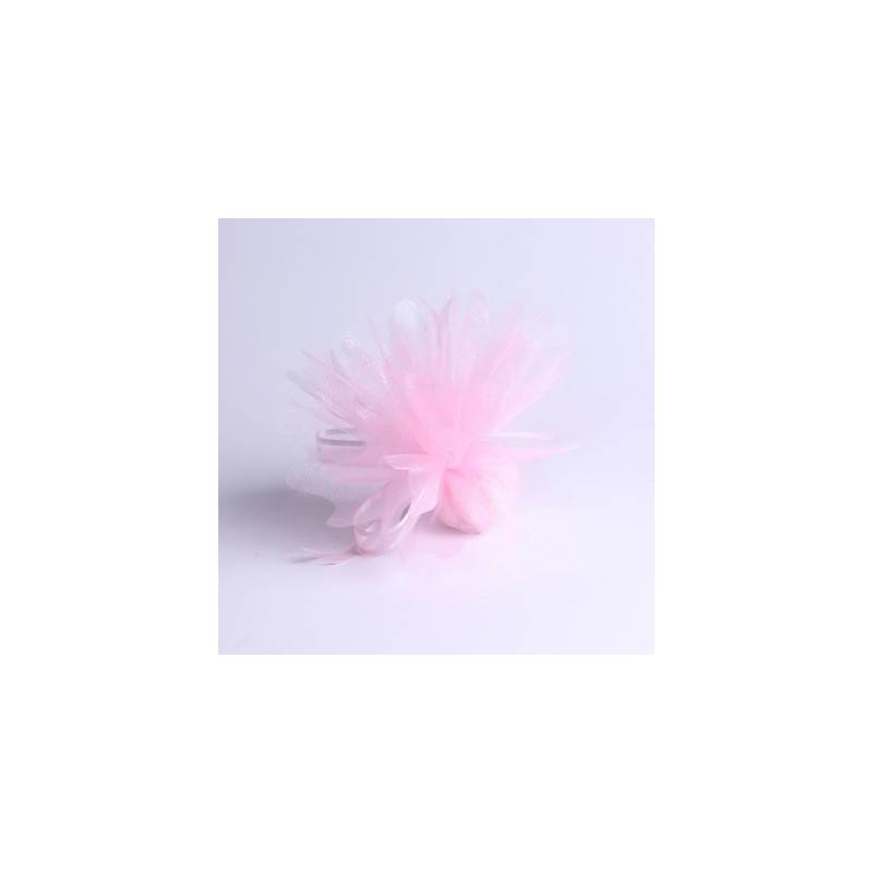 Tulle rose clair d23cm
