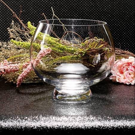Vase rond sur pied d20h23cm