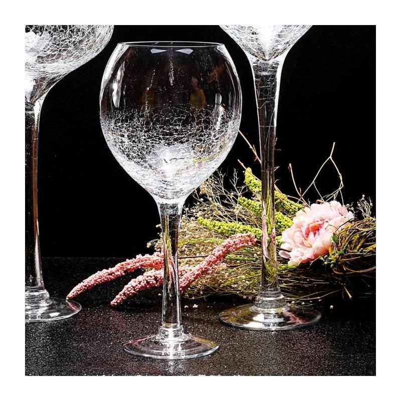 Verre a vin craquele n°1 d14h40cm