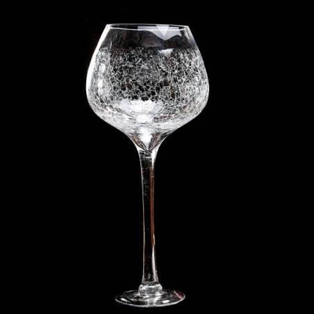 Verre a vin craquele n°2 d16h55cm