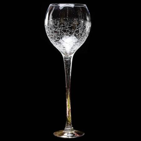 Verre a vin craquele n°3 d17h60cm