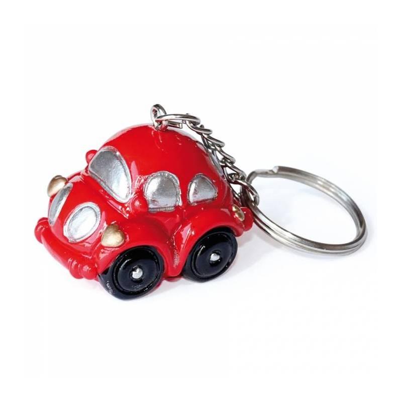 Voiture beetle porte-clefs rouge/bleu 2ass 3,5h2,5cm