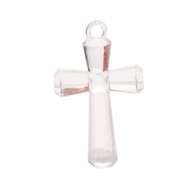 4 bijoux croix transparent 2,5h4cm