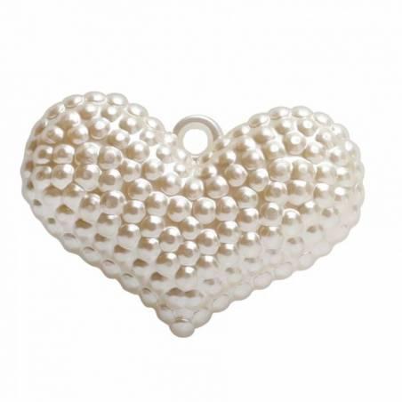 4 bijoux coeur nacre 5,5h4cm