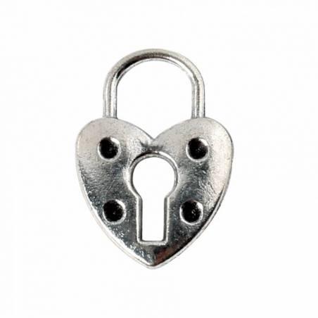 4 bijoux cadenas coeur argent 2h3cm