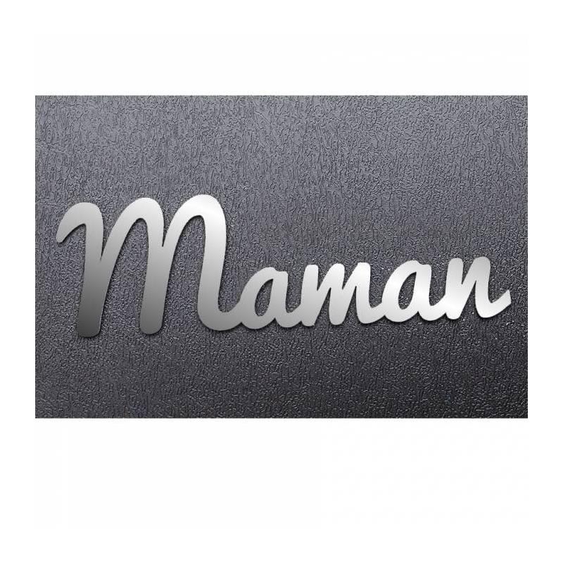 """""""Maman"""" argent deco 12h3,6cm"""