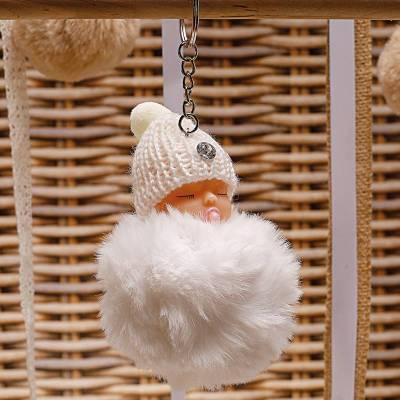 Bebe pompon porte-clefs...