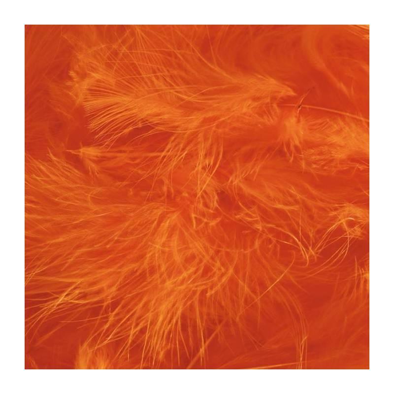 Plumes orange vif triees de dinde 100gr