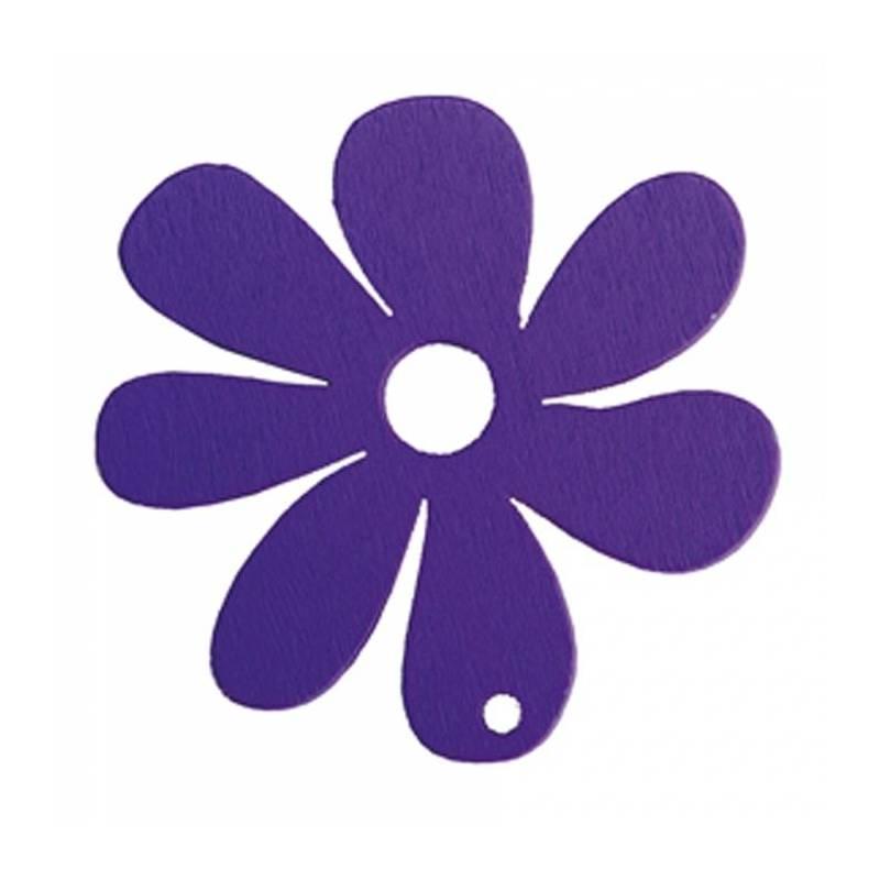 Fleur mauve n°2 5,7cm
