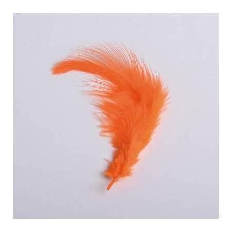 20 plumes orange-2g 9cm