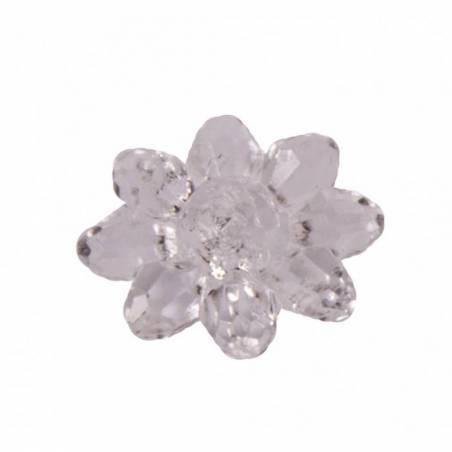 Bijoux fleur etoile transparente d2cm