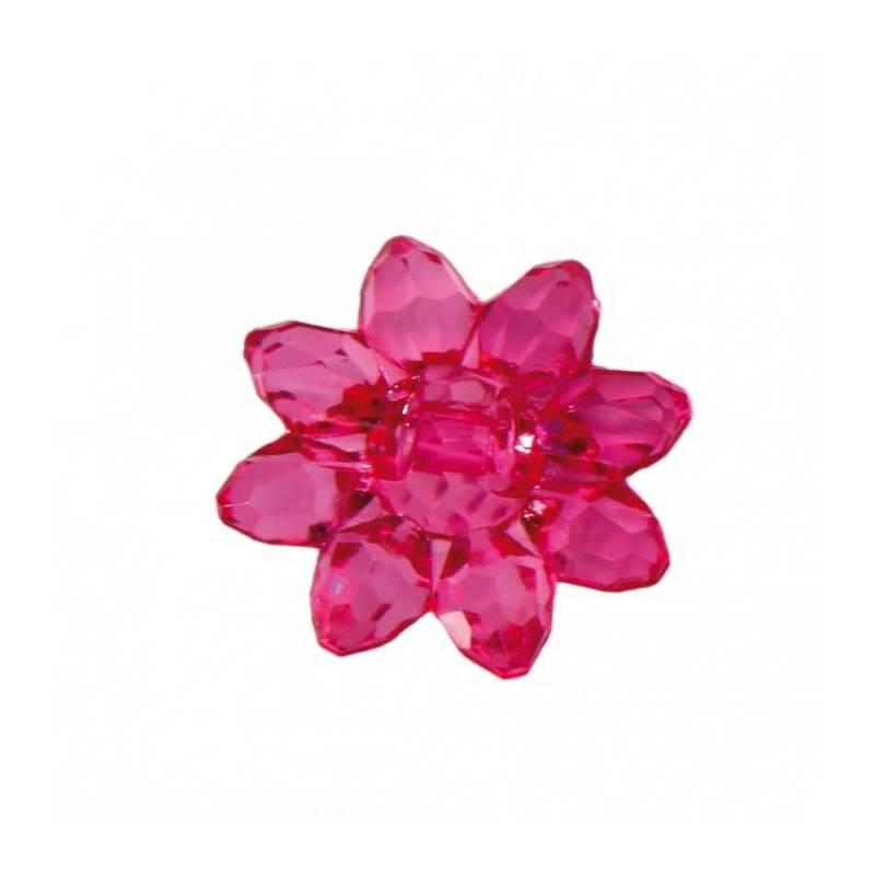 Bijoux fleur etoile fuchsia d2cm