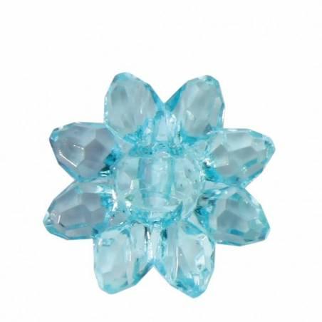 Bijoux fleur etoile turquoise d2cm
