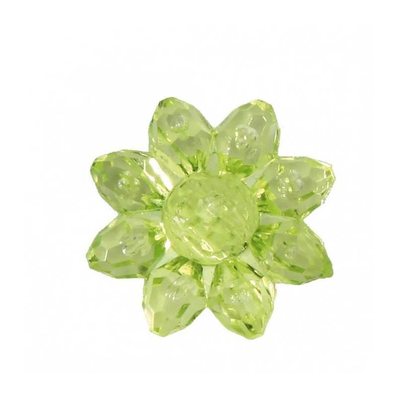 Bijoux fleur etoile verte d2cm
