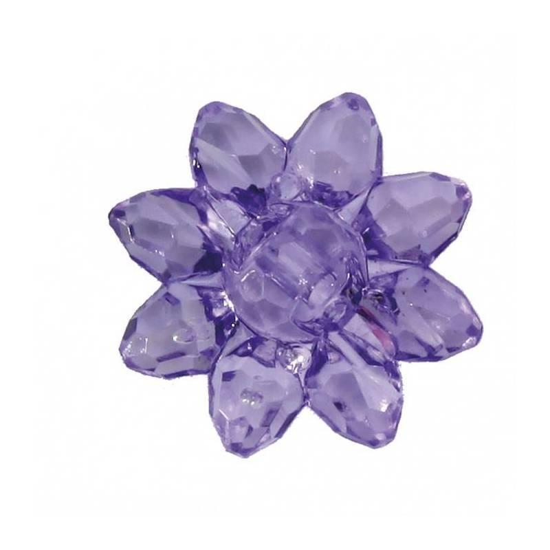 Bijoux fleur etoile lilas d2cm