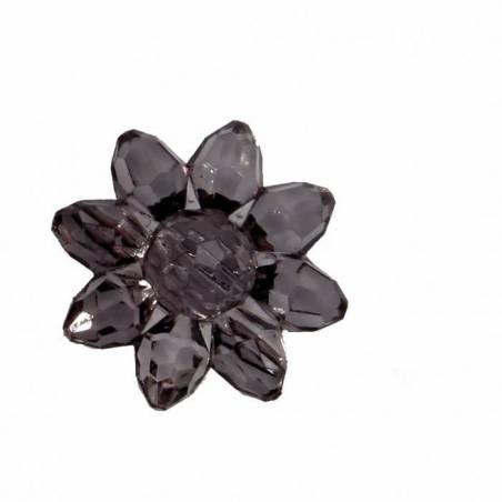 Bijoux fleur etoile grise d2cm