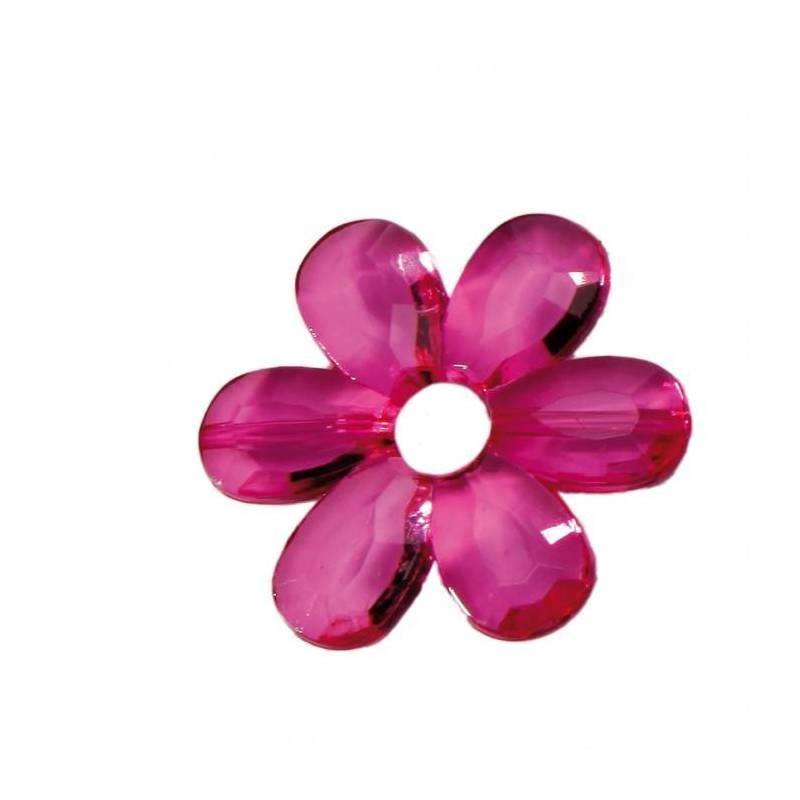 Bijoux fleur daisy fuchsia d4,5cm