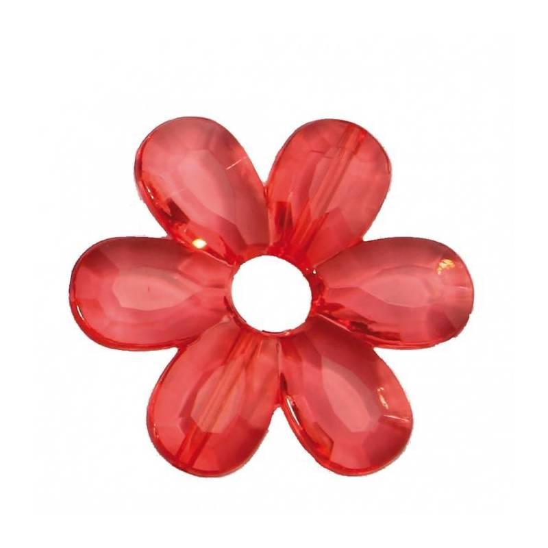 Bijoux fleur daisy corail d4,5cm