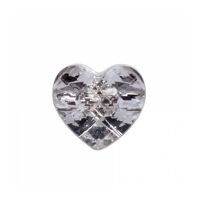 6 bijoux coeur a coller h2,5cm