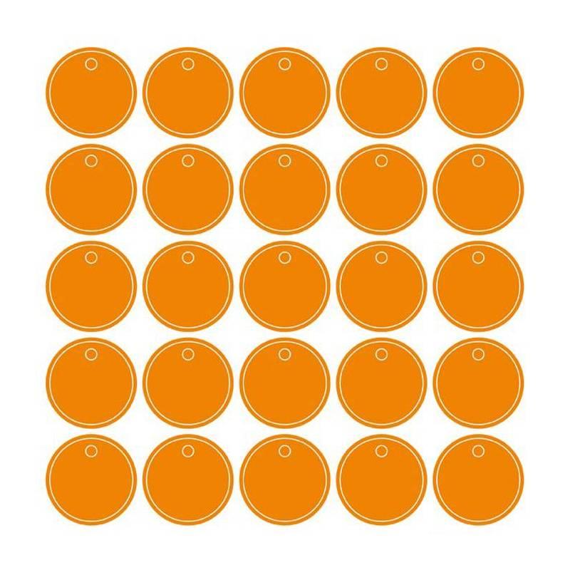 25 nominettes orange n°1 d3cm