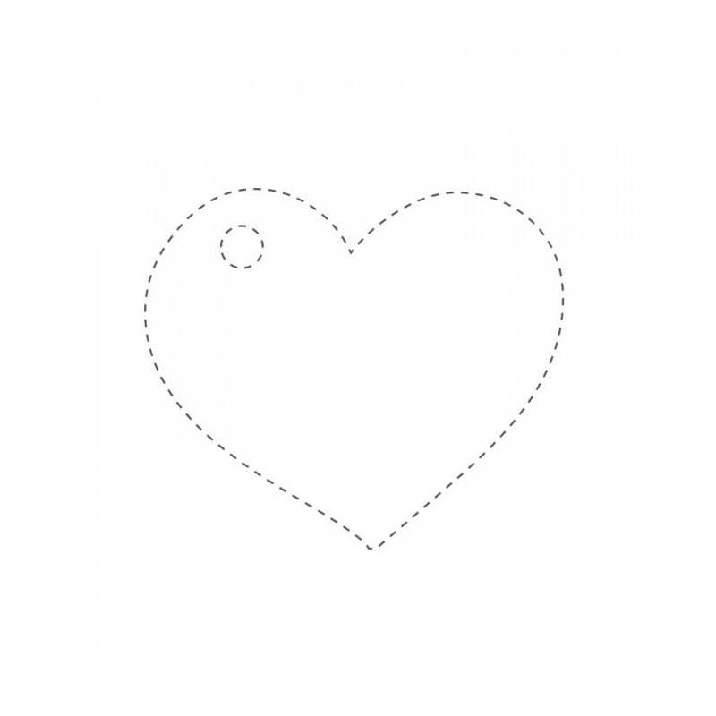 25 nominettes coeur blanc 4cm