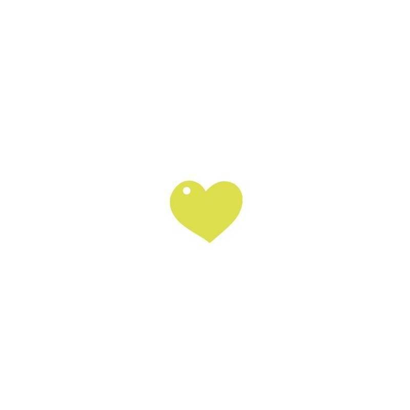 25 nominettes coeur vert 4cm