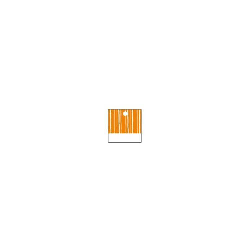 25 nominettes carrees orange 3x3cm
