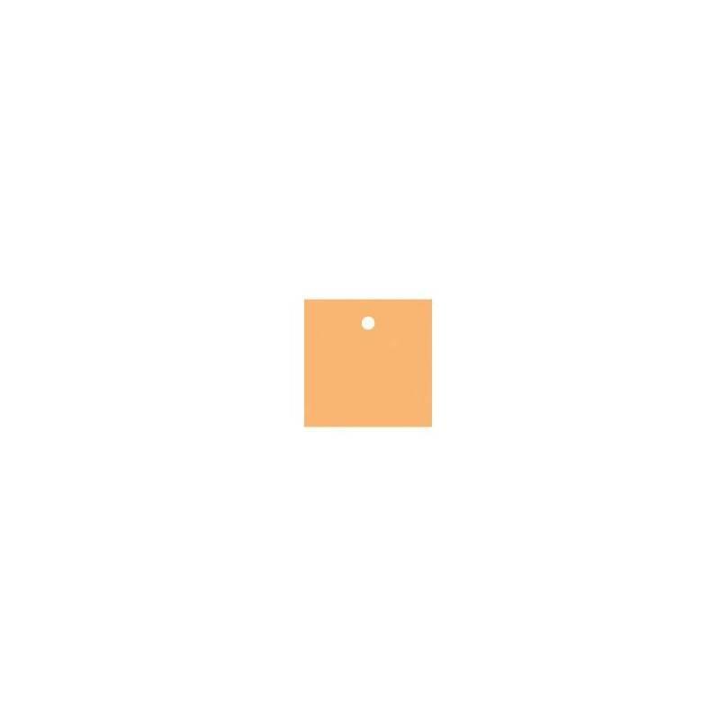 25 nominettes carrees orange 4x4cm
