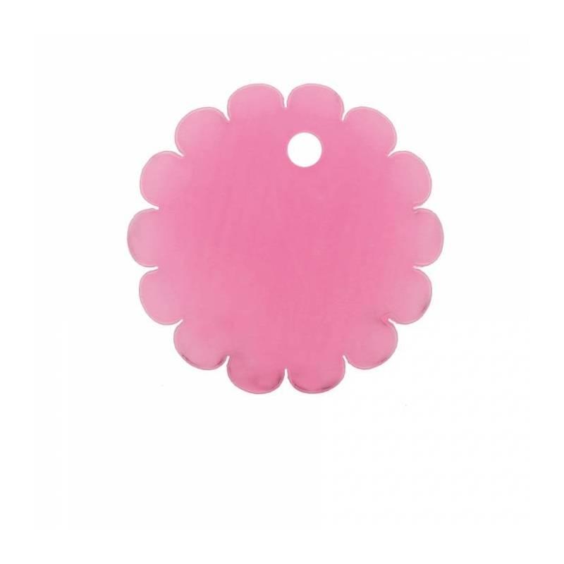 8 rosace nominette rose d4cm