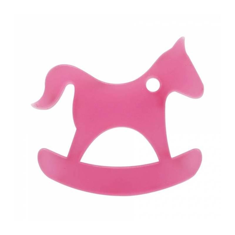 8 chevaux a bascule nominette rose 4,8x4,6cm