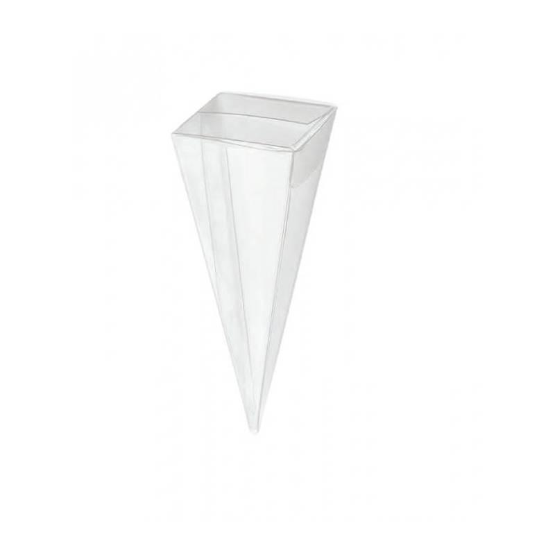 Transparent cornet h10cm