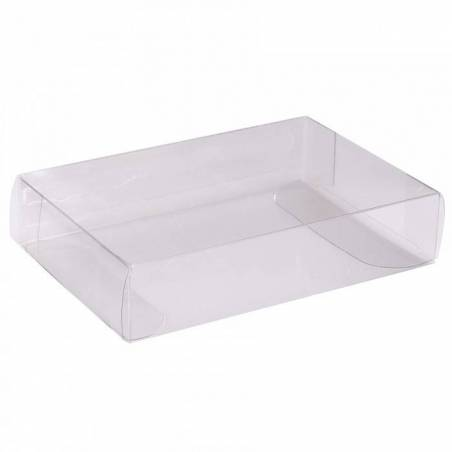 Transparent boite plate 9x6h2cm