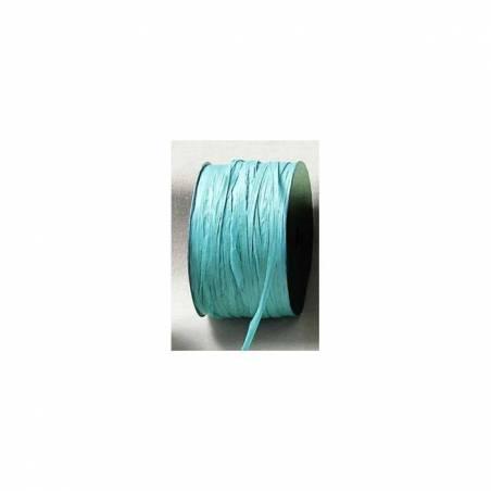 Raphia turquoise 7mmx100mt