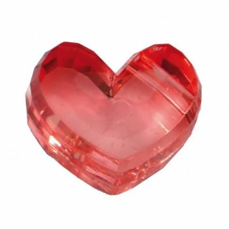 Bijoux coeur corail 2,5h1,5cm